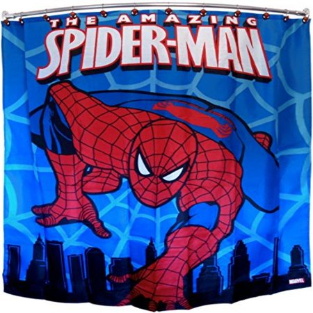 Marvel Spiderman Polyester Shower Curtain, 70 x 72 - Man Shower