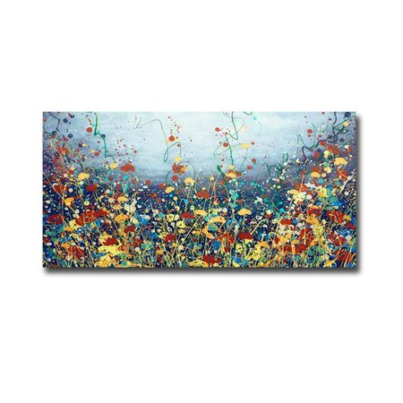 Poem Flower by Daniel Lager Premium Gallery-Wrapped Canvas Giclee Art - Ready to Hang, 12 x 24 in. - image 1 de 1