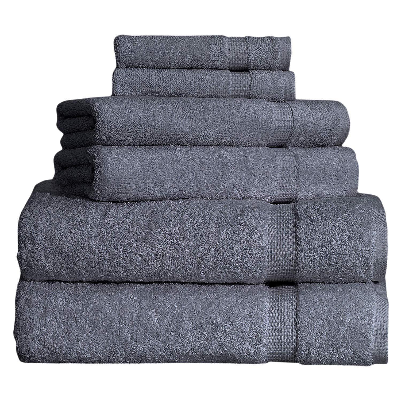 SALBAKOS Premium Organic Turkish Cotton Hotel /& Spa Hand Towels 700 GSM 6 PACK