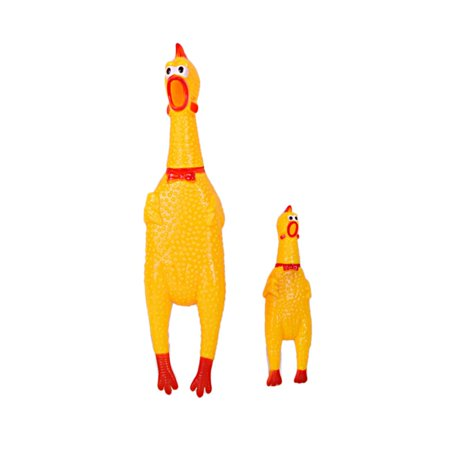 Funny Pet Toy Squawking Rooster Screaming Rubber Chicken Shrilling Dog Cat Toy - image 3 of 8