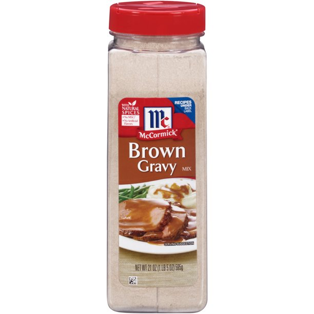 McCormick Brown Gravy Seasoning Mix, 21 oz Bottle
