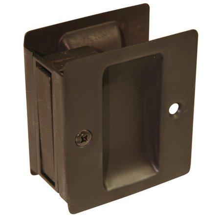Chrome Pocket Door Hardware - Ultra 49602 Oil Rubbed Bronze Passage Pocket Door Lock