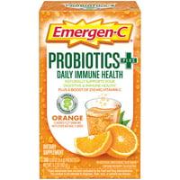 Emergen-C Probiotics+ (30 Ct, Orange Flavor, One Month Supply)