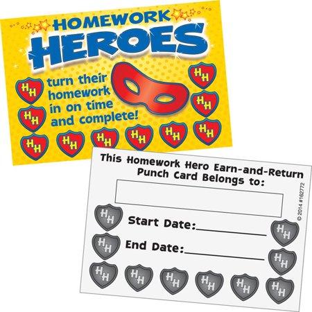 Homework Hero Earn-And-Return Punch Cards](Homework Hero)