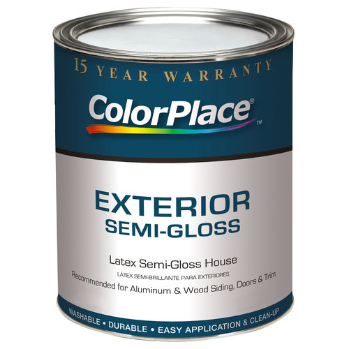 ColorPlace Exterior Semi-Gloss White Paint, 1 gal