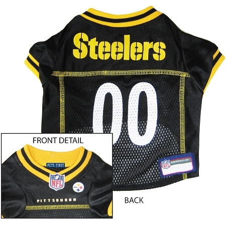 Pets First Pittsburgh Steelers NFL Dog Jersey - Small