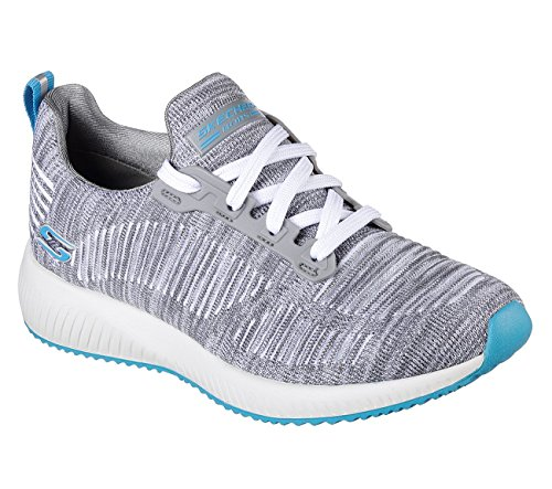 Skechers BOBS Squad Sizzle Women's Sneakers, Gray Turquoise 7.5 US by Skechers