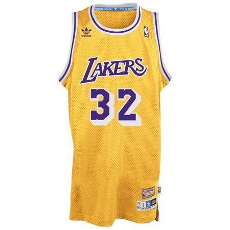 Magic Johnson Los Angeles Lakers Adidas Nba Throwback Swingman Jersey   Gold