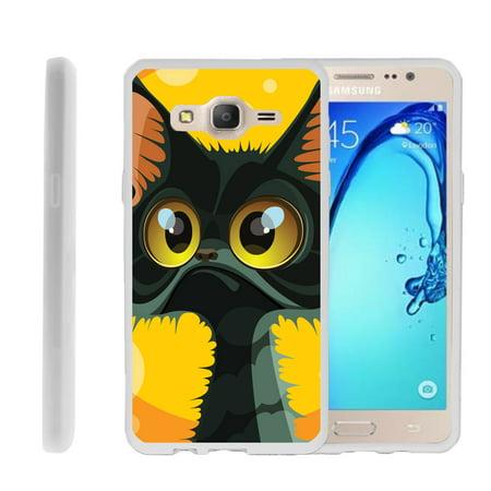 Samsung Galaxy On5 G550, Flexible Case [FLEX FORCE] Slim Durable TPU Sleek Bumper with Unique Designs - Big Eyed