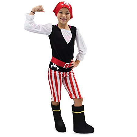 Boo! Inc. Pretty Pirate Children's Girl Halloween Dress Up Roleplay Costume](Halloween Pirate Costumes For Girls)