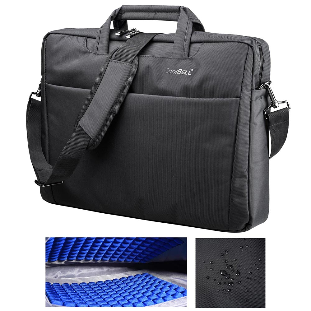 "CoolBELL 17.3"" Laptop Notebook Handbag Messenger Sleeve Case Bag Shoulder Bag Briefcase Water Resistant Bubble Pad"