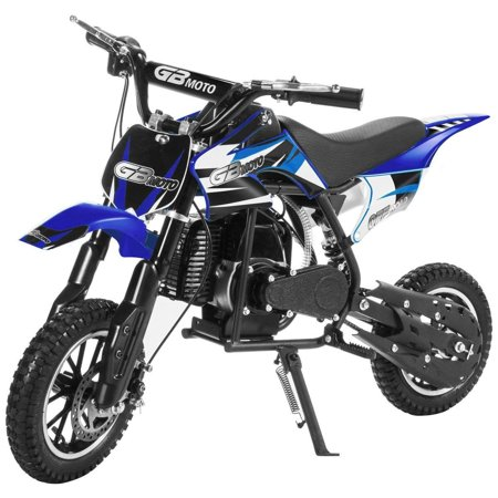 Pit Bike - 49CC 2-Stroke Kids Gas Power Mini Dirt Bike Dirt Off Road Motorcycle, Pit Bike (Blue)