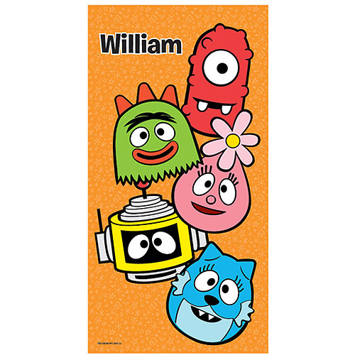 Personalized Yo Gabba Gabba! Big Faces Beach Towel