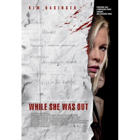 While She Was Out Movie Poster  11 X 17