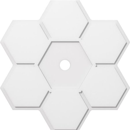Ekena Millwork CMP38DY-03000 38 in. OD x 3 in. ID Square Daisy Architectural Grade PVC Contemporary Ceiling Medallion - image 1 of 1