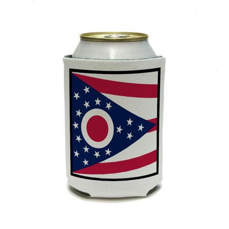 Ohio State Flag Can Cooler Drink Insulator Beverage Insulated Holder - Ohio State Beverage