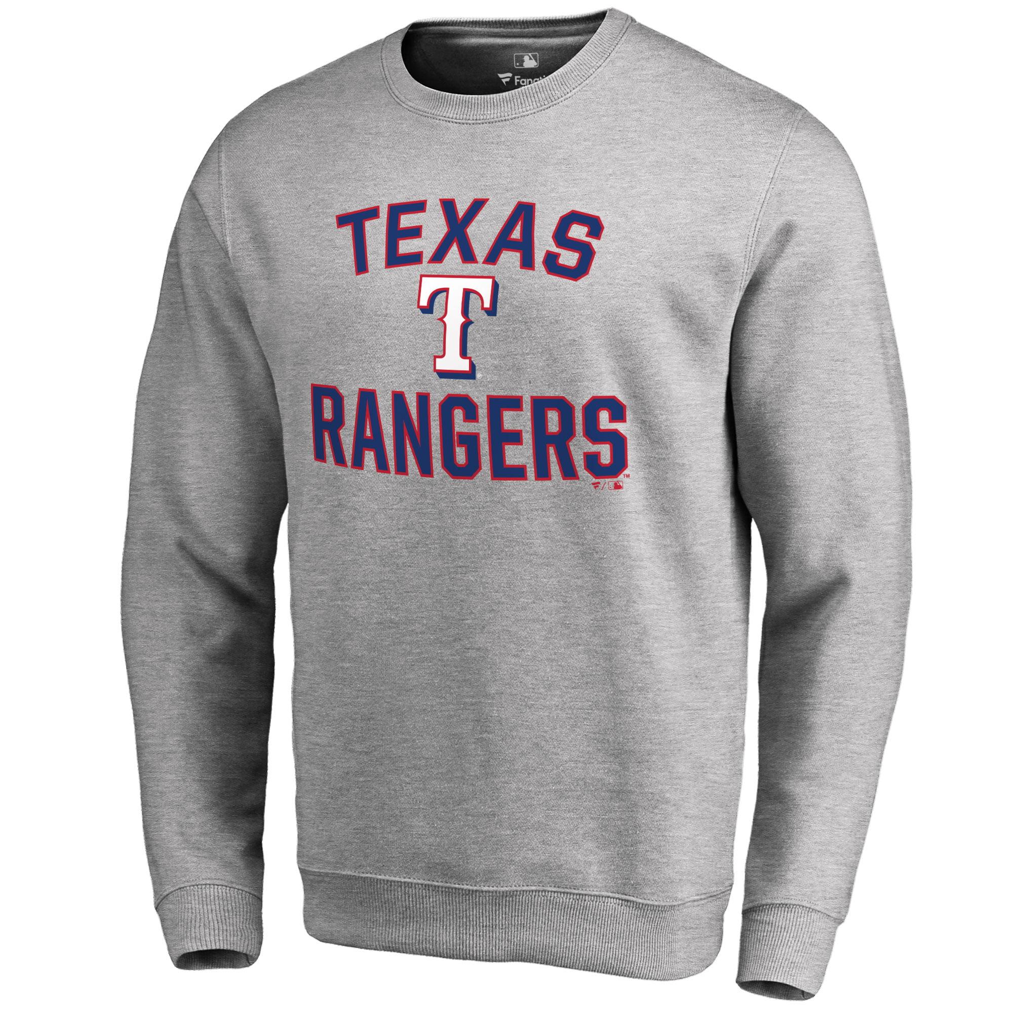 Texas Rangers Victory Arch Pullover Sweatshirt - Ash