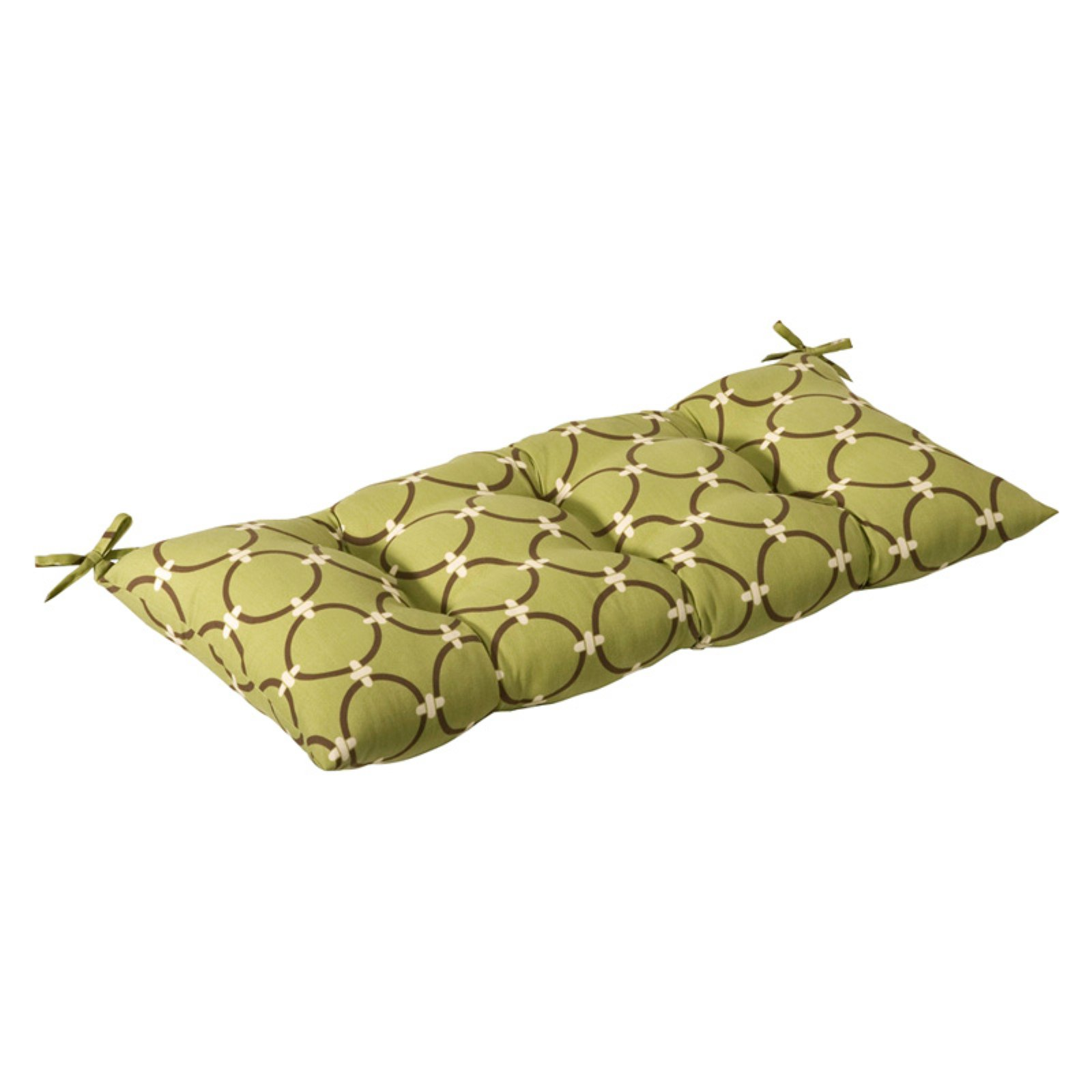 Pillow Perfect Outdoor Tufted Loveseat Cushion - 44W x 18.5D x 6H in.