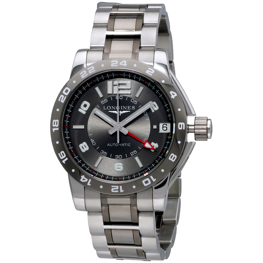 Longines Admiral Grey Dial Stainless Steel Men's Watch L3...