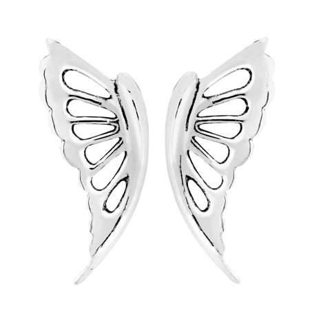 Abstract Erfly Wings 925 Sterling Silver Stud Earrings