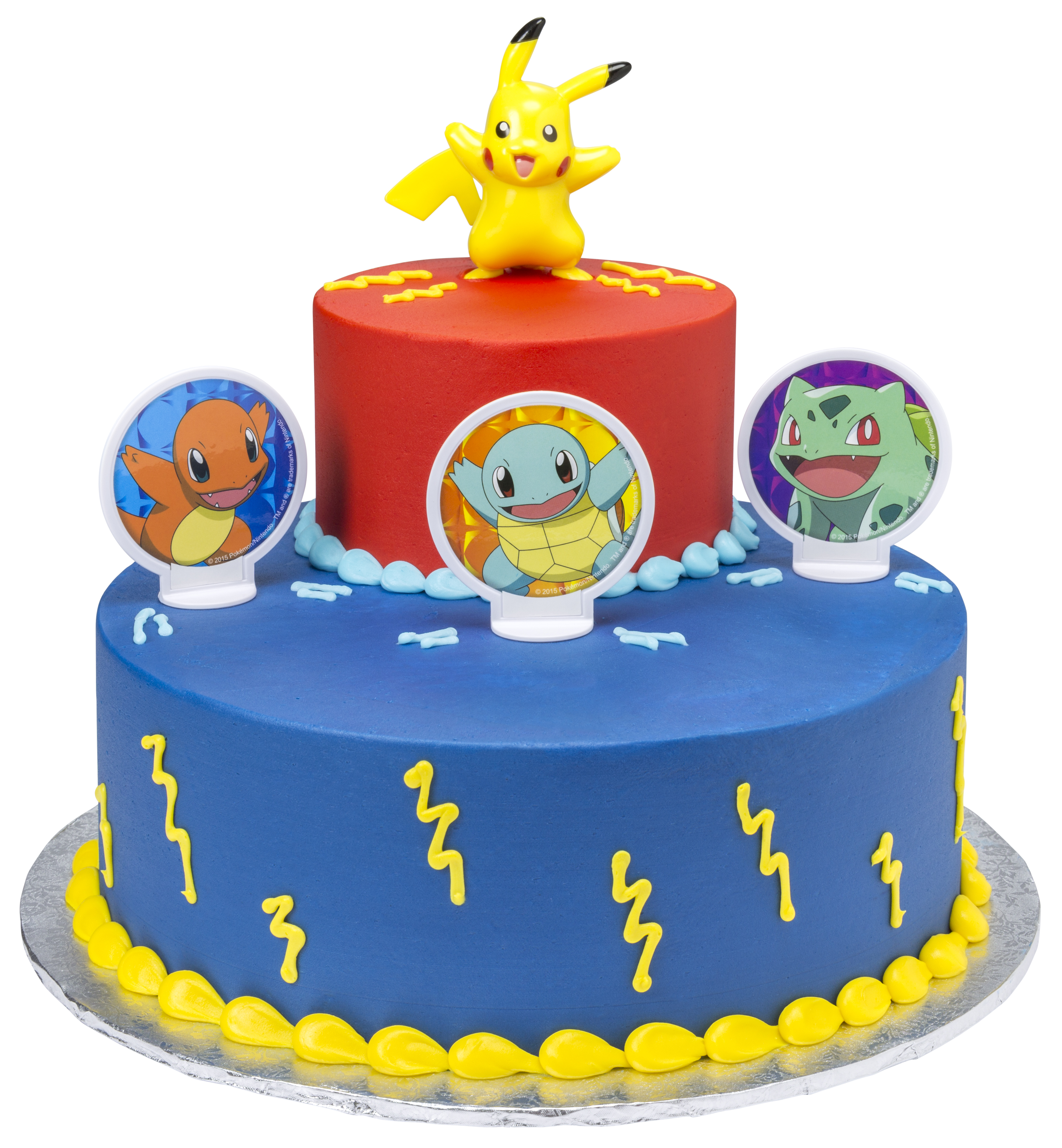 Terrific Pokemon Light Up Pikachu Two Tier Cake Walmart Com Walmart Com Birthday Cards Printable Opercafe Filternl