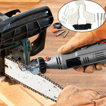 Chain Saw Sharpening Tool Attachment Rotary Power Drill Hand Sharpener