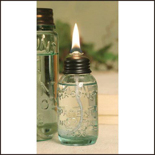 1 X Miniature Mason Jar Oil Lamp by Unassigned