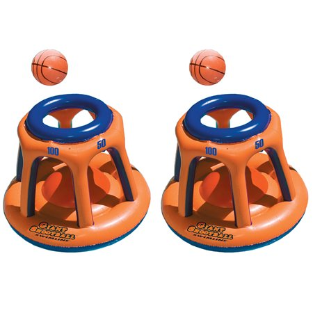 Swimline Basketball Hoop Giant Shootball Inflatable Swimming Pool Toy (2 Pack)](Blow Up Pool Toys)