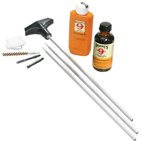 - Hoppes Clamshell Kits U22B Cleaning Kit .22 - .225 Caliber W/ Alum Rod Clam E/F