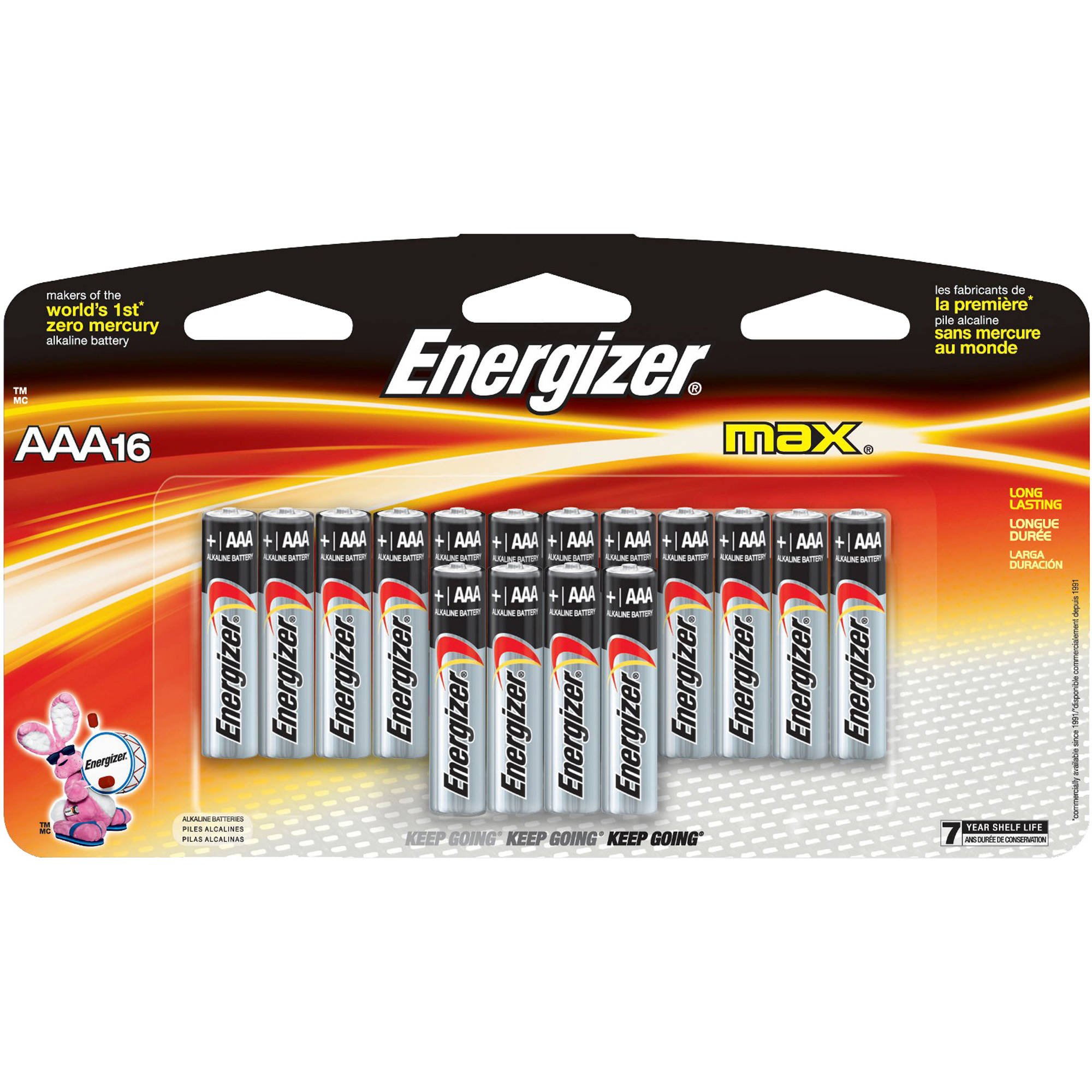 Energizer Max AAA, 16 Pack Household Batteries