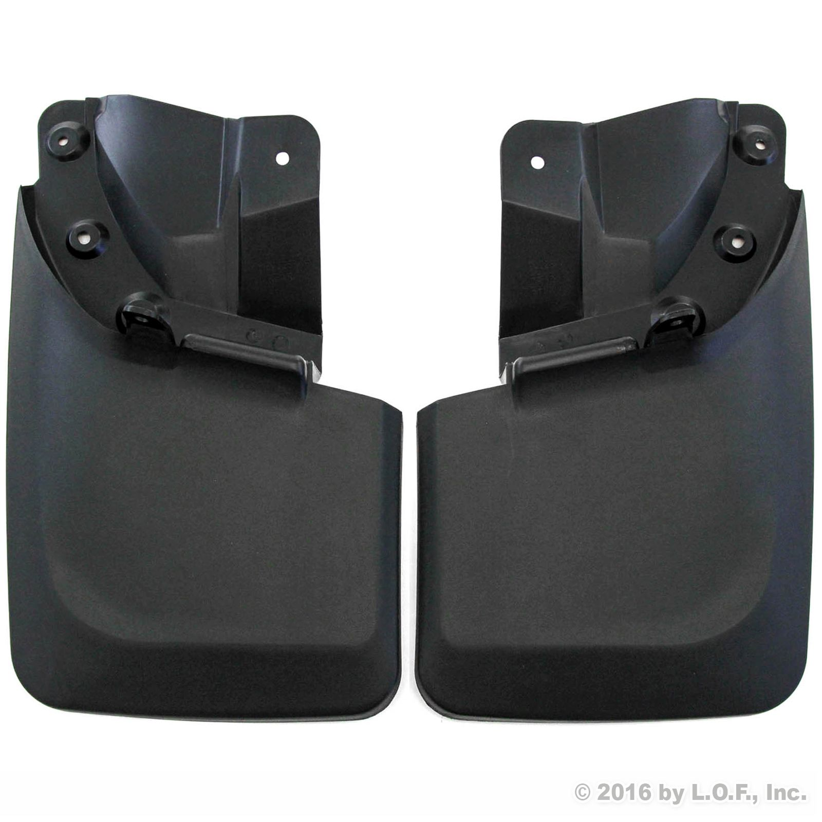 2016-2017 Toyota Tacoma Mud Flaps Guards Splash Guard Rear Molded 2pc (With OEM Fender Flares ONLY) by Red Hound Auto