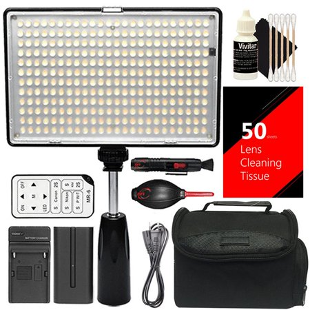 Vivitar 288Pcs Video Light Up To 1400 Lumens High Power Professional Dimmable Light Panel With Color Temperature Control  Battery And Charger For Youtube  Studio And Product Photography