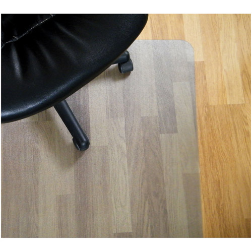 "Floortex Ecotex 100% Post Consumer Recycled Rectangular Chairmat For Hard Floors, 30"" x 48"", Tinted"