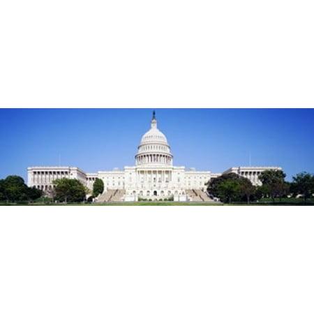 US Capitol Washington DC District Of Columbia USA Canvas Art - Panoramic Images (36 x 12)