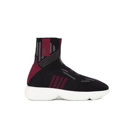 Prada Womens Red Cloudbust High-Top Sneakers