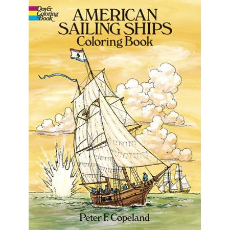 American Sailing Ships Coloring Book