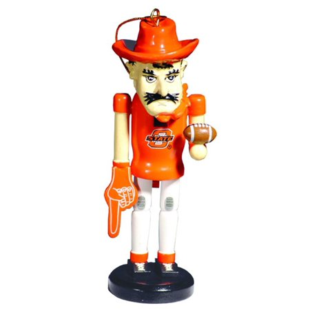 6 ncaa oklahoma state cowboys mascot wooden nutcracker christmas ornament - Nutcracker Christmas Ornaments