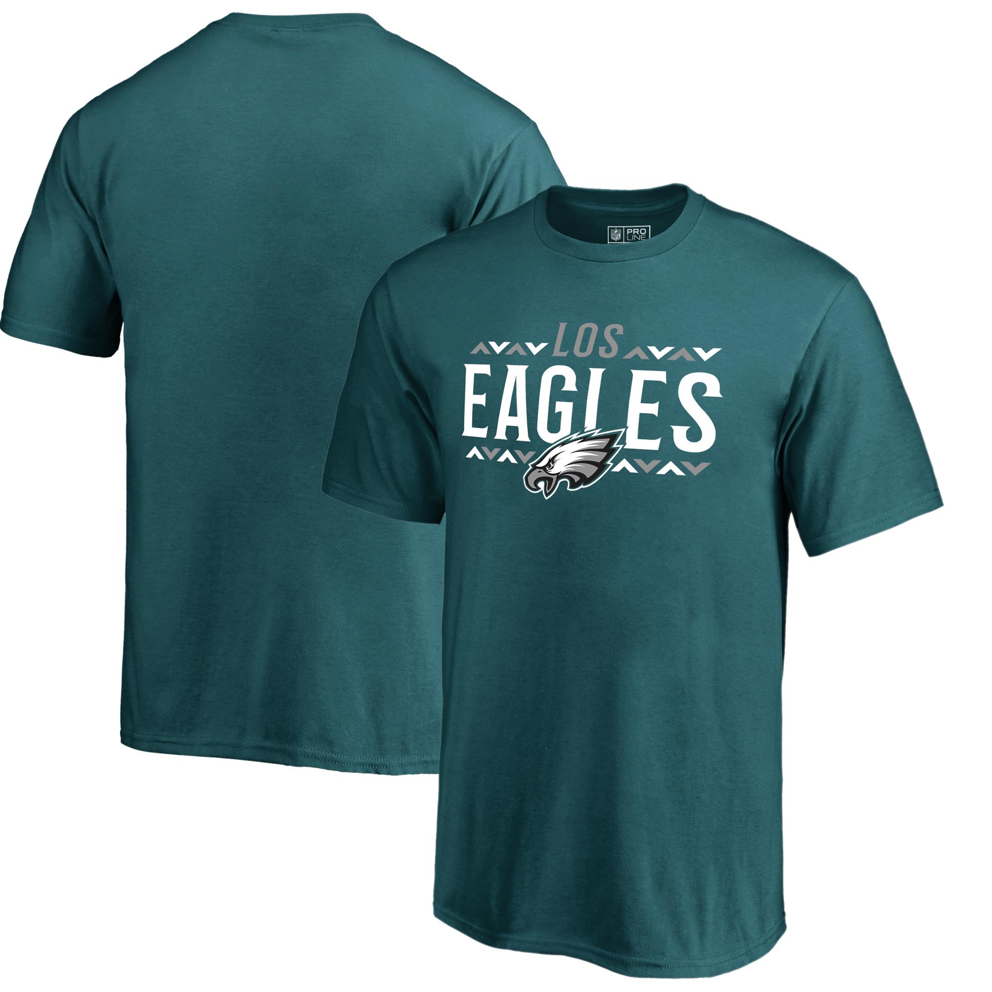 Philadelphia Eagles NFL Pro Line by Fanatics Branded Youth Arriba T-Shirt - Midnight Green