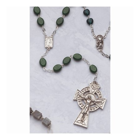 ICE CARATS Irish Claddagh Celtic Knot Crucifix Cross Religious Glass Shamrock Bead Rosary Fashion Jewelry Ideal Gifts For Women Gift Set From Heart