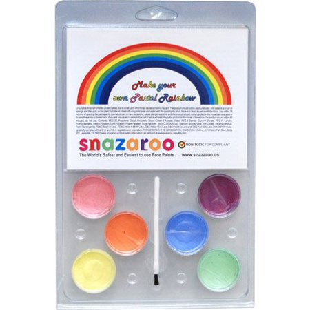 MAKE YOUR OWN PASTEL RAINBOW Face Painting Pallet, The safest and Easiest to use Face Paints By Snazaroo Ship from US