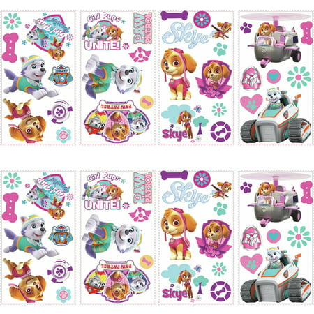 RoomMates Paw Patrol Girl Pups Peel and Stick Wall Decals, 2 -
