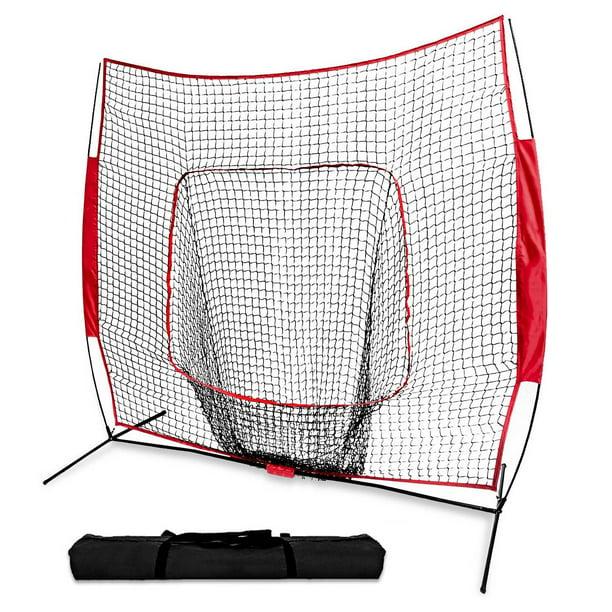 Details about  /Baseball Softball Practice Hitting Batting Training Net 7x7 Ft Bow Frame W//Bag