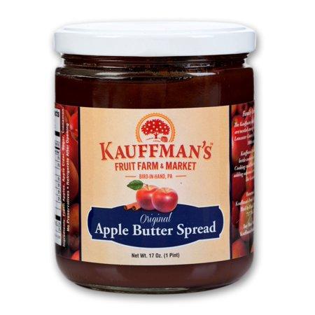 Kauffman's Fruit Farm Original Apple Butter, 17 Oz. Jar (Pack of 2)