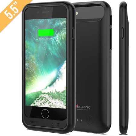 Alpatronix BX170plus 4200mAh iPhone 8 Plus / 7 Plus Slim Portable Battery Case