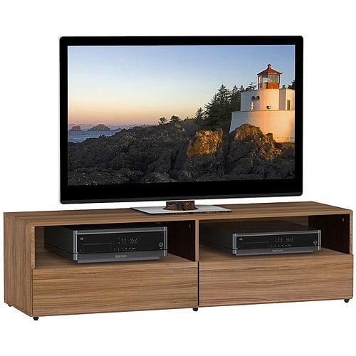 "Nexera Alizee TV Stand for TVs up to 60"", Walnut"