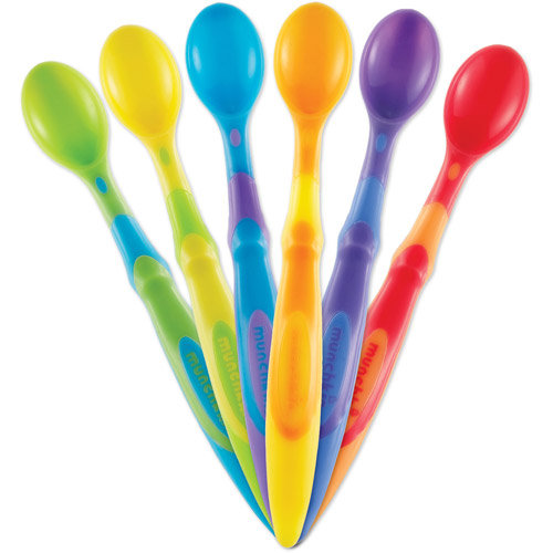 Munchkin Soft-Tip Infant Spoons, BPA-Free, 6ct