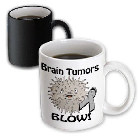 3dRose Brain Tumors Blow Awareness Ribbon Cause Design, Magic Transforming Mug, 11oz (Brain Tumor Ribbon)