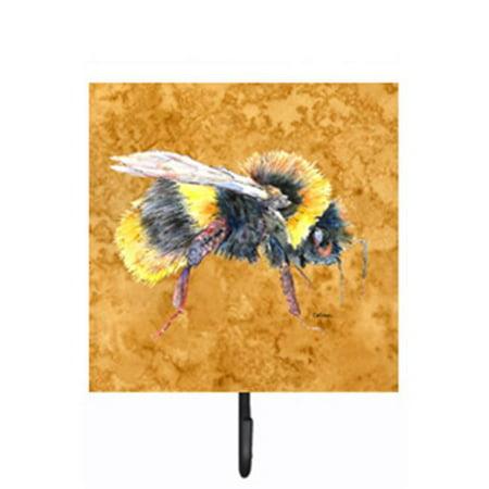 Carolines Treasures 8850SH4 Bee on Gold Leash Or Key Holder - image 1 of 1
