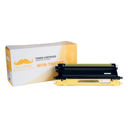 Moustache Compatible Brother TN115Y TN-115Y Yellow Toner Cartridge for DCP-9040CN 9045CDN 9045CN /HL-4040 4050CDN HL-4050CN 4070CDW/ MFC-9440CN 9450CDN 9840CDW 9940 - image 5 de 5