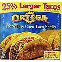 Ortega Taco Shells Yellow Corn 12 Shells Gluten Free 5.8 Oz. Pk Of 3.